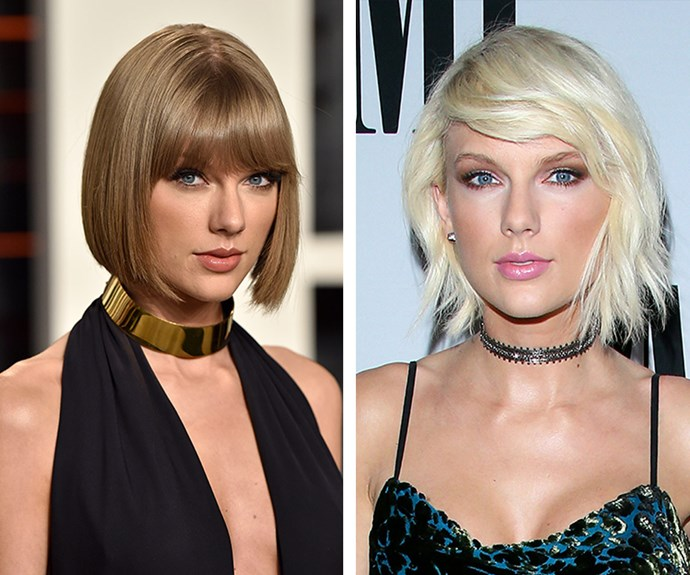 Taylor Swift shocked the world when she traded in her signature honey-blonde bob for it's edgy, platinum cousin.