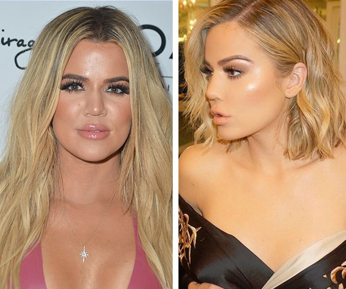 The Kardashians certainly are known as hair chameleons for their ever-changing tresses. These pictures of Khloe Kardashian were taken just one week apart, but the star is already back to her long extensions! We simply kannot keep up.