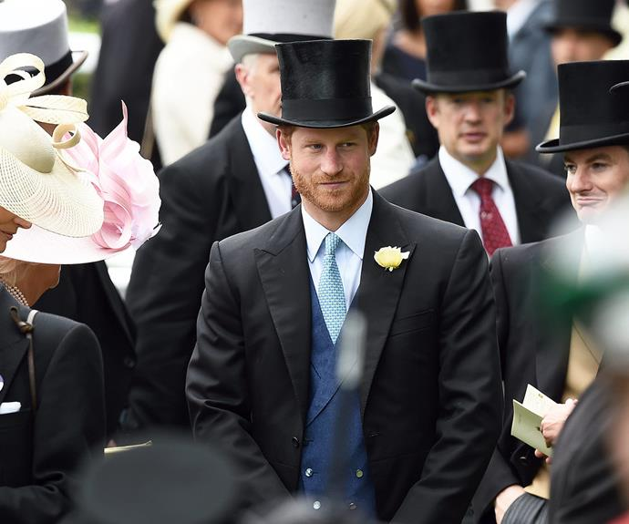 The dapper Prince stood out in the crowd with his charming gaze and rugged stubble.