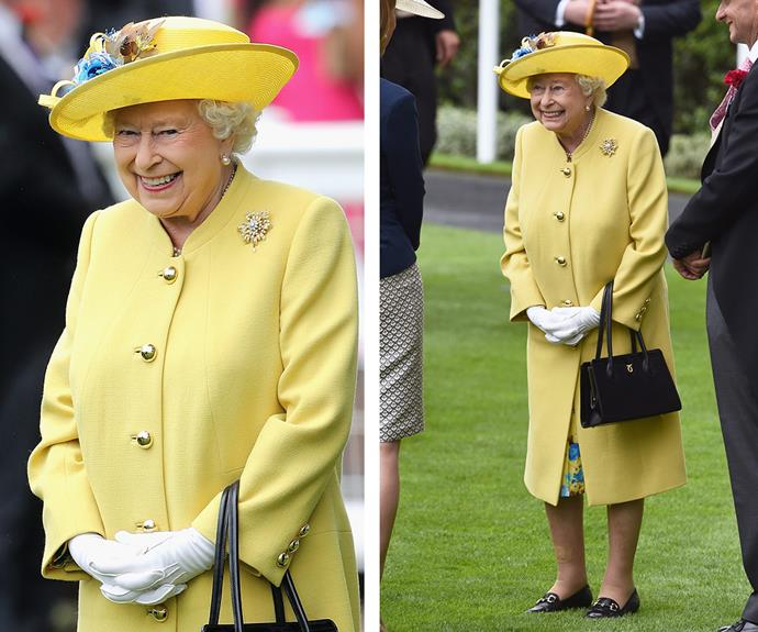 But the true beauty was in Queen Elizabeth's excited smile! **Discover the matriarch's lifelong love of horses in the next slide!**