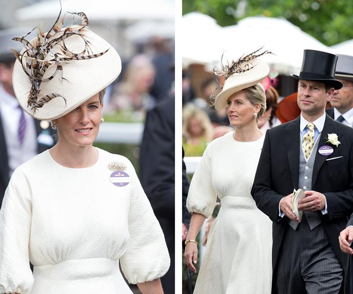 After the big race, Sophie, Countess of Wessex was ready for a spot of celebration with her husband Prince Edward.