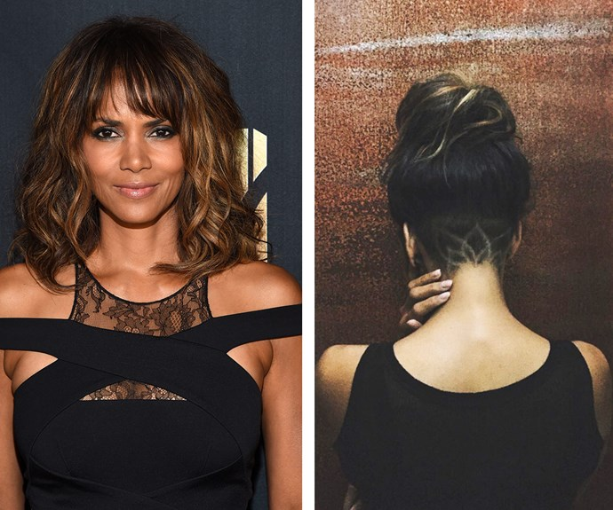 "Stepping it up a notch, stunning Halle buzzed a lotus flower into her undercut. ""AND FOR MY NEXT TRICK…,"" penned the 50-year-old alongside the Instagram reveal."