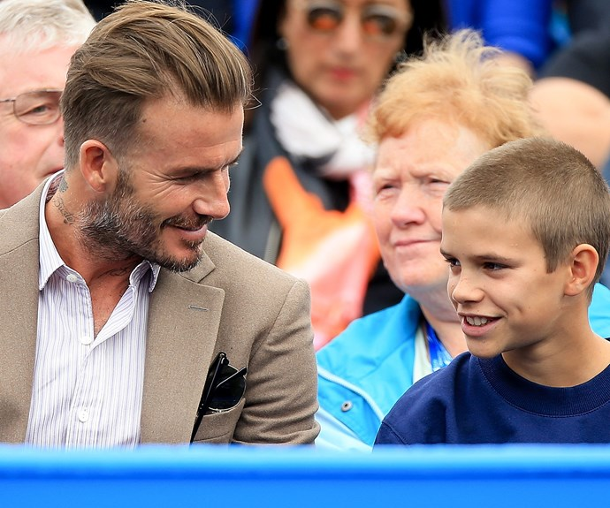 David and Romeo Beckham made Father-Son bonding look oh-so handsome!