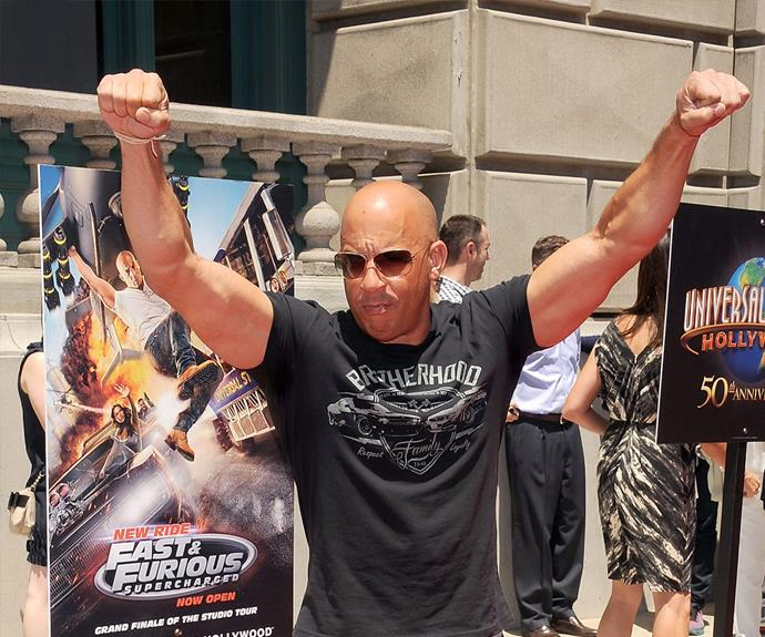 Vin Diesel looks pretty excited about the news!