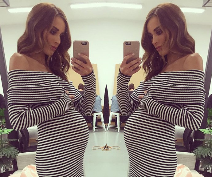 "The Aussie beauty has kept her fans well informed with selfies such as this one. ""Hello little juddys,"" she fondly captioned, making a nod to the two little ones."