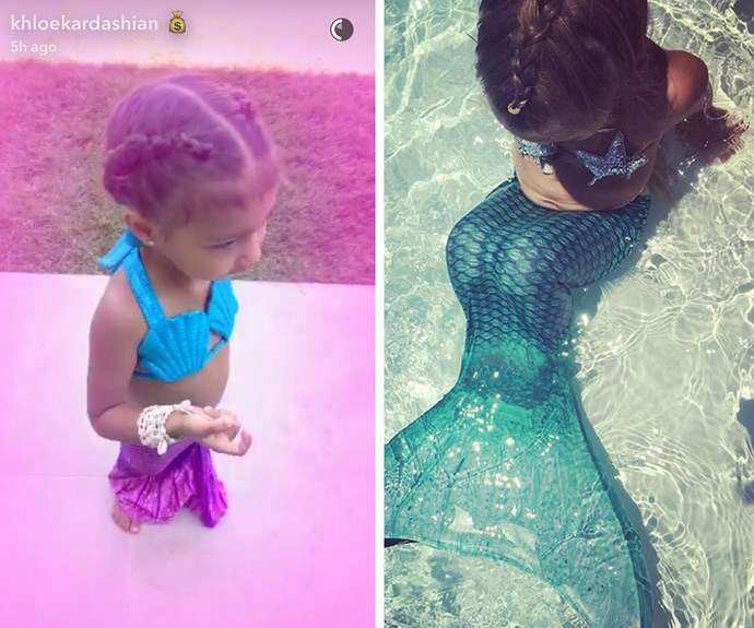 """Ahead of the big birthday bash, proud mama Kim shared this note about her eldest, """"She promised me she wouldn't get any bigger! I can't believe my baby girl is 3 years old today!!!! Northie I love you so much I can't even explain it! Happy Birthday to my favorite mermaid!!!"""""""