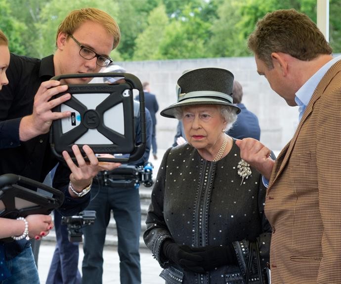 Queen Elizabeth has always seemed wary of technology, until now.