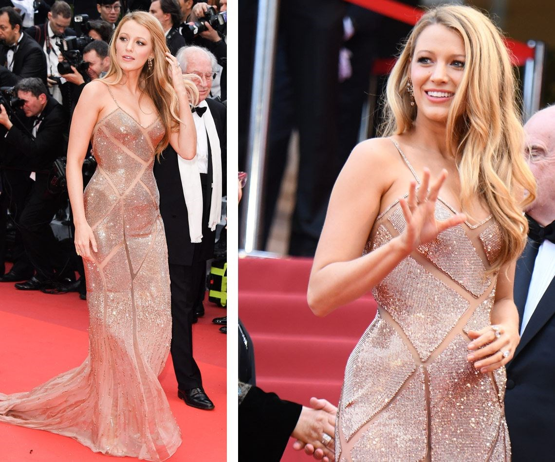 Blake looks like the belle of the ball in this glittering number!