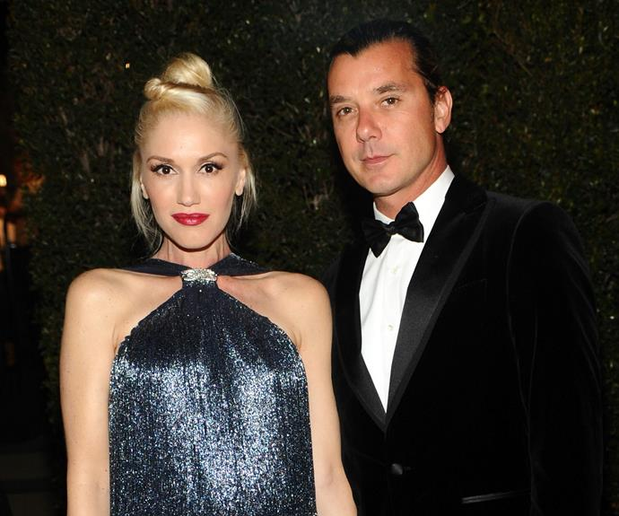 **Gwen Stefani and Gavin Rossdale** These days, Gwen Stefani is blissfully in love with new beau Blake Shelton. But the singer's 13-year marriage to Gavin was rocked last year when reports surfaced of his affair with their nanny Mindy Mann. According to *Access Hollywood*, the Bush front man reportedly left Gwen's hospital bed following the birth of their son Apollo to be with Mindy.