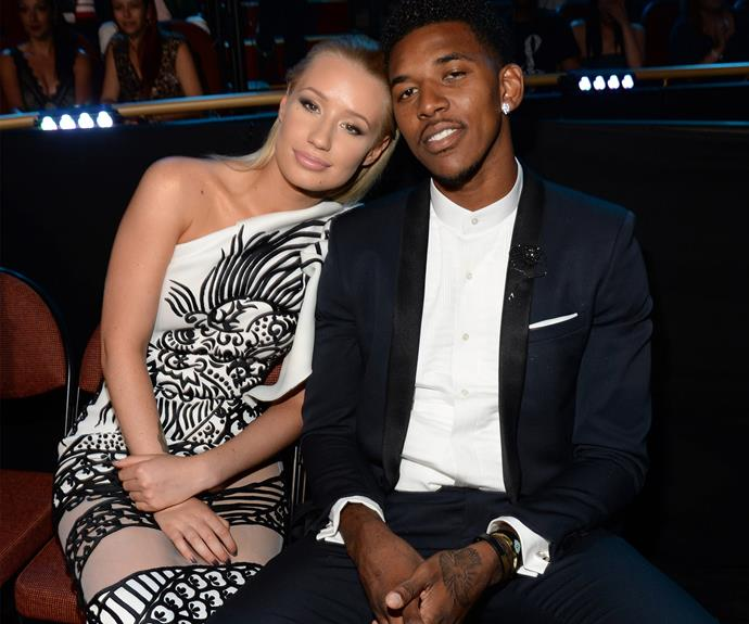 "**Iggy Azalea and Nick Young** Earlier this week, Iggy officially called time on her engagement to Nick and moved her belongings out of his house. The NBA star was reportedly caught on tape admitting to his team mate D'Angelo Russell that he'd cheated on his then-fiancee. The *Fancy* rapper shared a note on her Instagram page on Monday confirming the split. ""Unfortunately although I love Nick and have tried and tried to rebuild my trust in him -- it's become apparent in the last few weeks I am unable to,"" she wrote."