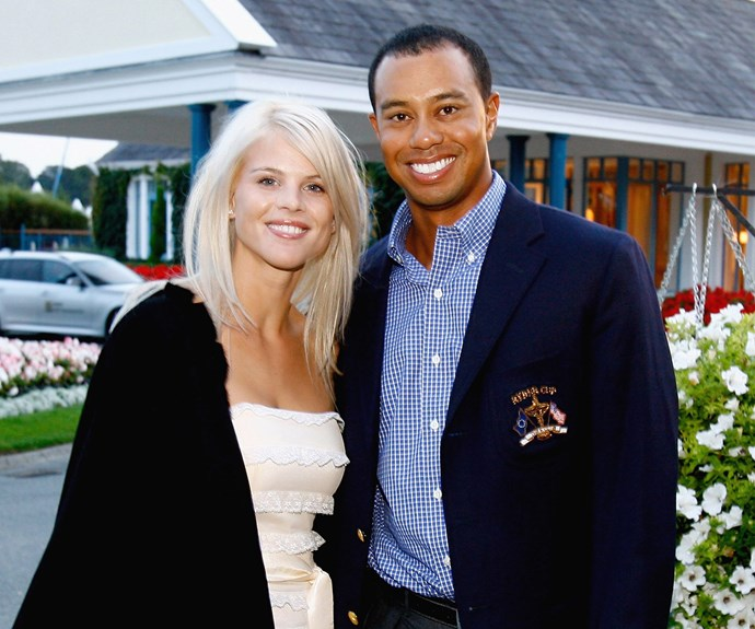 **Tiger Woods and Elin Nordegren** The former golden child of golf's life was turned upside down in 2009 when his wife Elin exposed his infidelity. News first broke of Tiger's affair with night club hostess Rachel Uchitel in the *National Enquirer*. As more and more of the golfer's mistresses came out of the woodwork, it was clear the 40-year-old's marriage wouldn't survive. He reportedly admitted to sleeping with 120 women while married to Elin. The pair have two children, Sam, nine, and Charlie, seven.