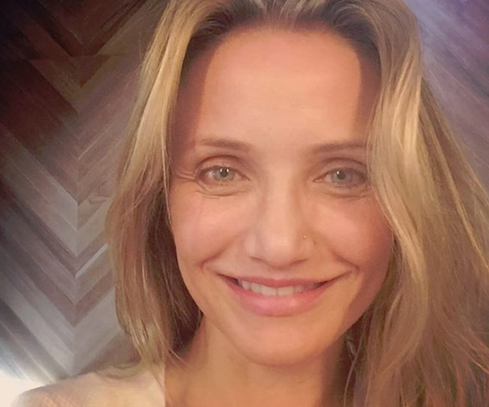 In promotion of her feelgood aging book, *The Longevity Book*, the beautiful Cameron Diaz shared this bare-faced snap, proving that she is equally as stunning without makeup, than with.
