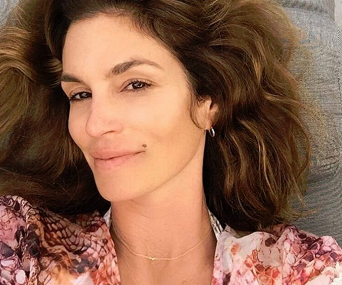 "Supermodel Cindy Crawford celebrated her 50th birthday in 2016 with this stunning selfie. ""First day at 50. Thank you for all of the birthday wishes yesterday!"""