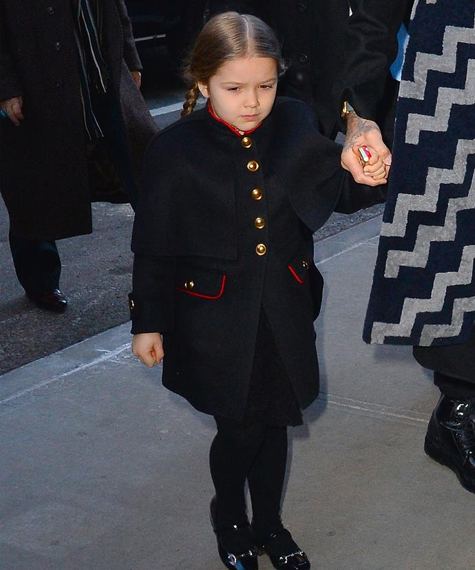 Looks like someone inherited Mummy's fashion sense... and habit of not smiling in pictures!