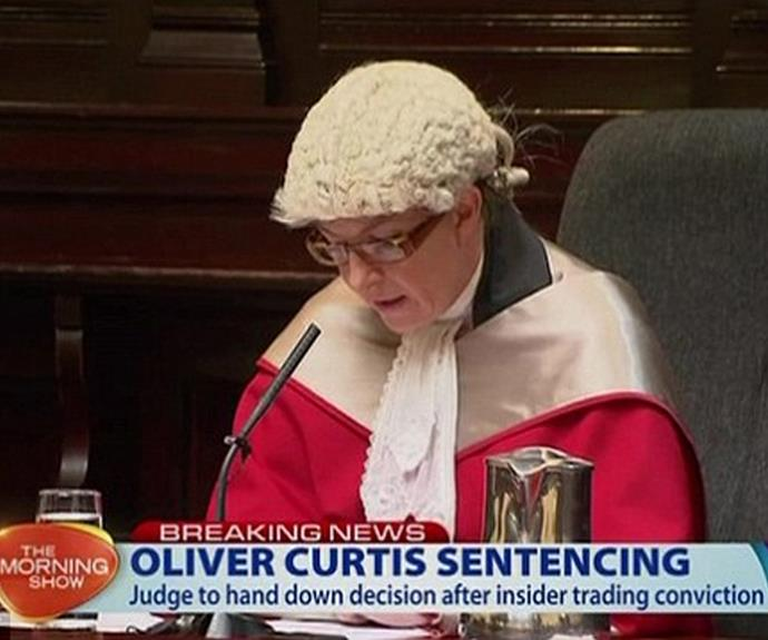 "The Judge, Justice McCallum, said ""Mr Curtis has not embraced responsibility for his offending."" *(Source: NINE)*"