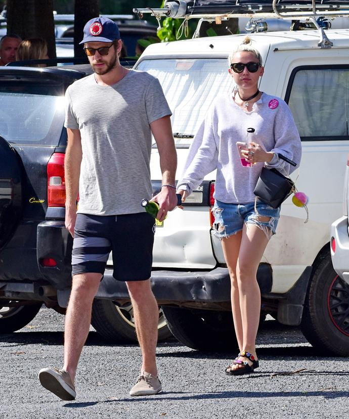 The reunited couple recently spent time in Byron Bay with Liam's family.