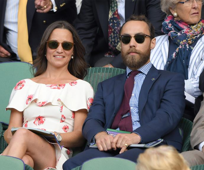 Pippa attended the match with her brother James.