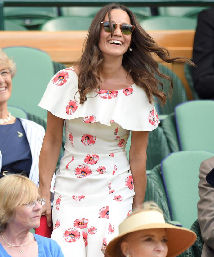Pippa couldn't stop laughing at her skirt mishap!