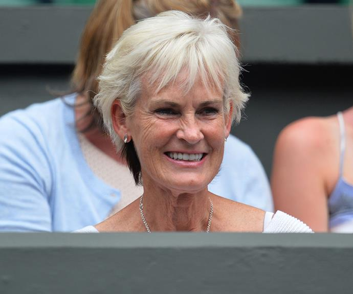 Proud grandma Judy Murray was all smiles at the highly-anticipated tennis match.