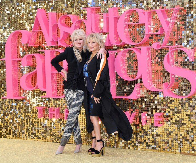 Sweetie! Darling! Joanna Lumley and Jennifer Saunders led the red carpet for their beloved sitcom's film premiere... **Watch the trailer in the next slide!**