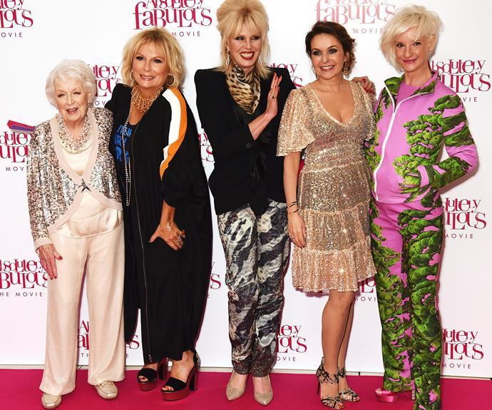 June Whitfield, Jennifer Saunders, Joanna Lumley, Julia Sawalha and Jane Horrocks have all reprised their original roles.