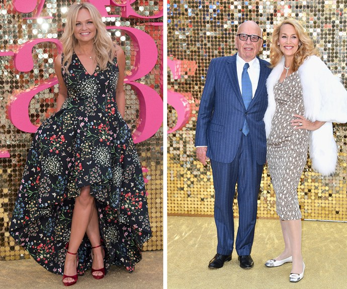 Bringing some spice, Emma Bunton while newlyweds Rupert Murdoch and Jerry Hall were all smiles!