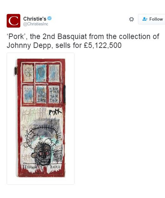 Johnny has been an avid Basquiat fan for over 25 years.