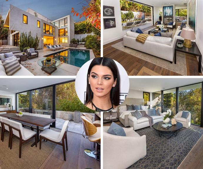 Kendall Jenner just purchased John Krasinski and Emily Blunt's West Hollywood home for $6.5 million. The stunning new digs has six bedrooms and four-and-a-half bathrooms.