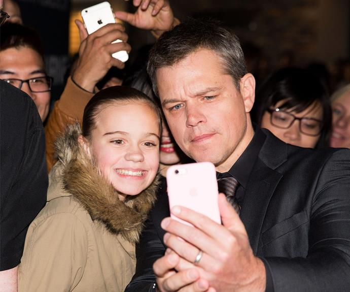 But he took time out to pose with fans, who were thrilled with meeting the star.