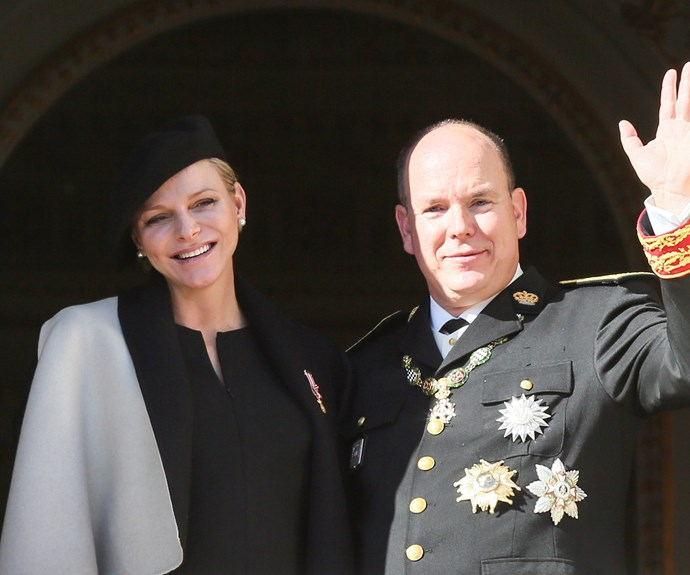 Her Serene Highness The Princess of Monaco with her real life Prince Charming.