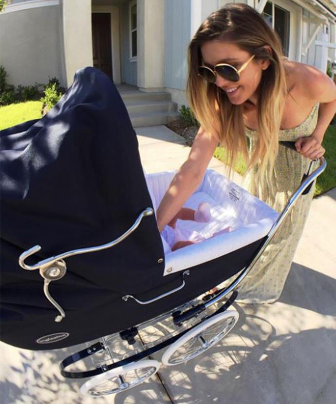The former reality star revealed she gave birth via C-section.