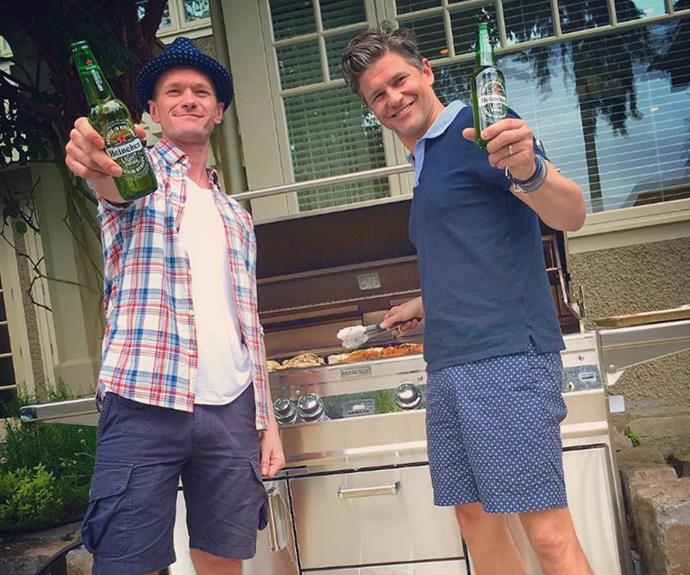 Neil Patrick Harris and his husband David Burtka manned the barbecue.