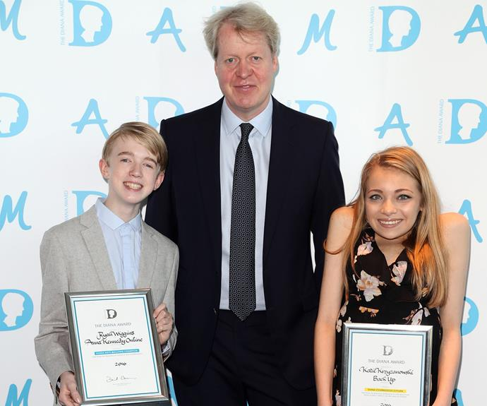 Charles presented youths with their honours at The Diana Award event in London.