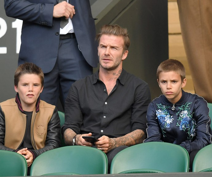 On Wednesday July 6, David Beckham took his sons Cruz and Romeo out for a day at the tennis.