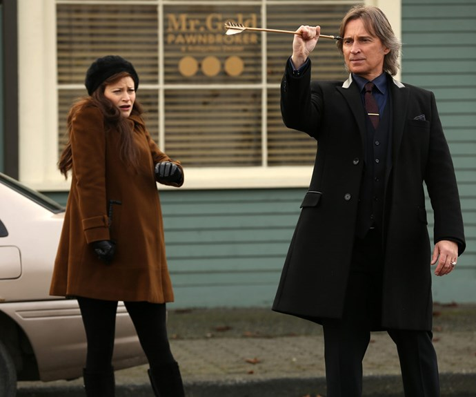 Emilie, pictured with Robert Carlyle, plays Belle on the smash hit series *Once Upon a Time*.