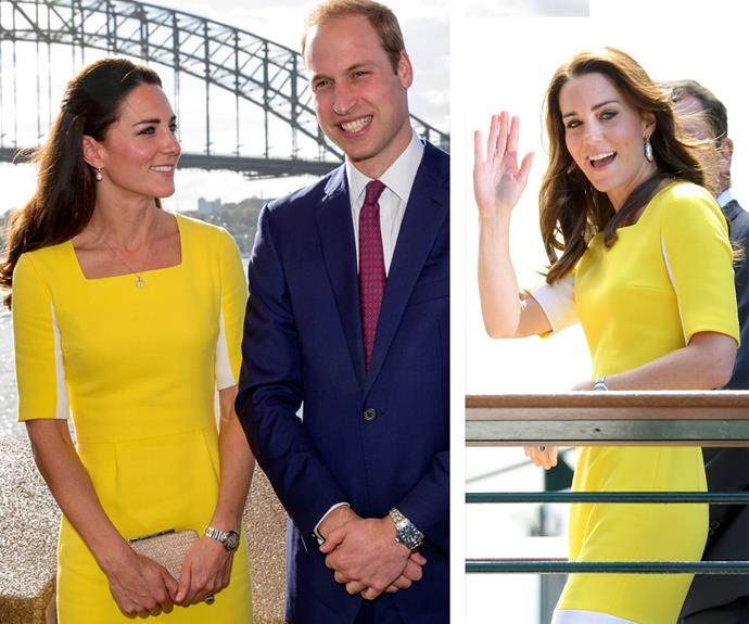 We recognise that dress! On the left is the dress in Sydney, and on the right is Wimbledon.