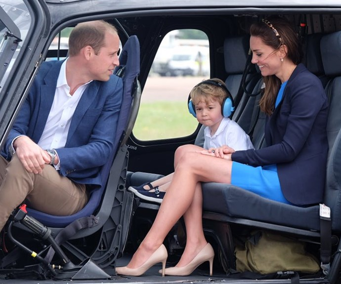 The third in line to the British throne has inherited his dad's love of helicopters.