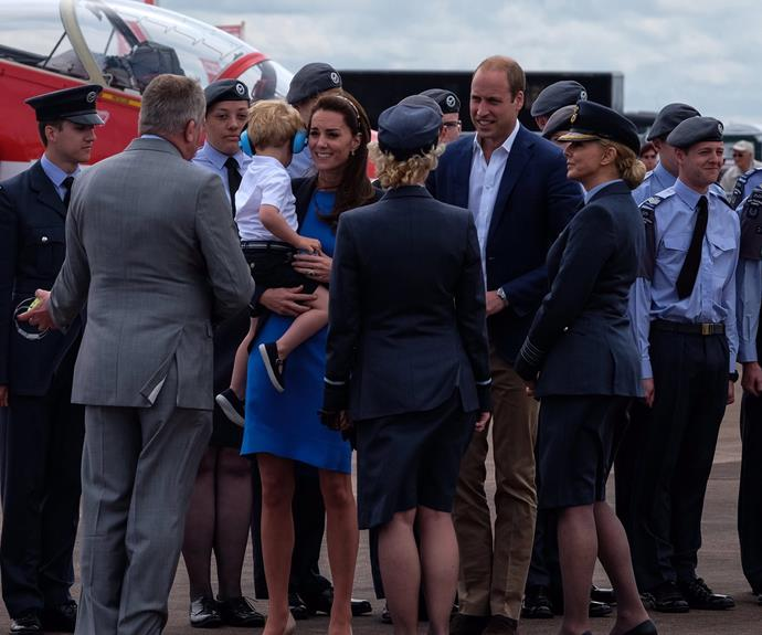While mum and dad chatted with the Air Cadets, Georgie had his eye on something else!