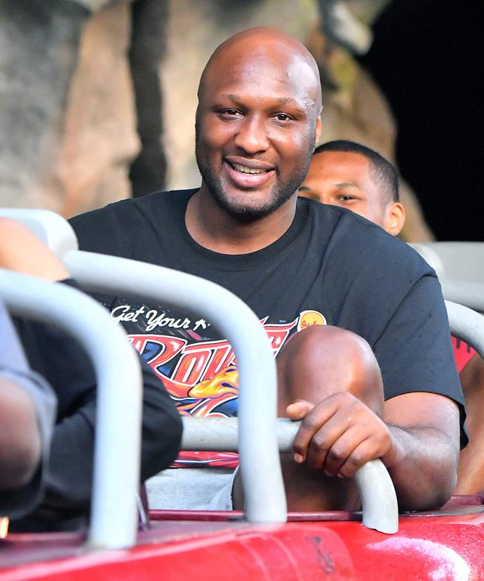 Less than two weeks ago, Lamar was spotted at Disneyland looking happy and healthy.