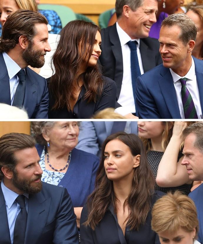 Bradley was simply chatting away to Swedish tennis legend, Stefan Edberg.