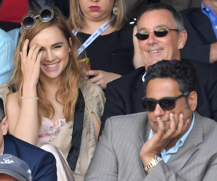 Bradley's ex Suxi Waterhouse was at the final.