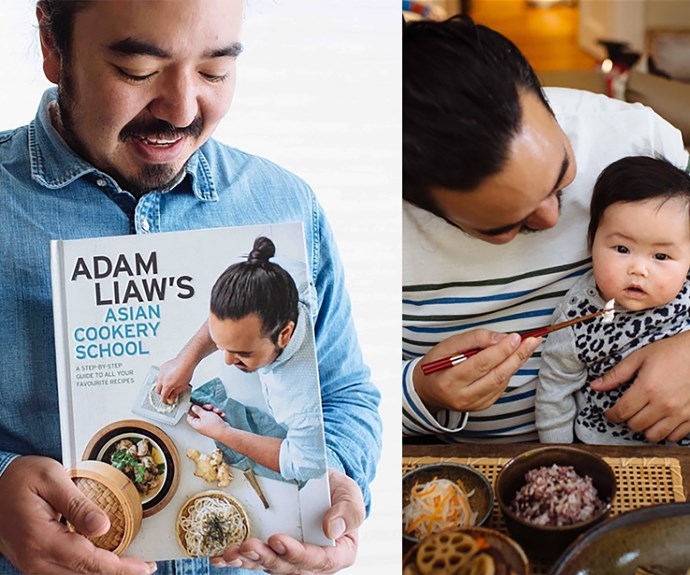 **Adam Liaw** Adam always seemed to doubt that he had what he took to win season two. But, in the end his near-perfect dishes got him over the line and his humble attitude endeared him to viewers at home. He now hosts *Destination Flavour*, has been named a Goodwill Ambassador for Japanese cuisine and has two super-cute children, Christopher and Anna.