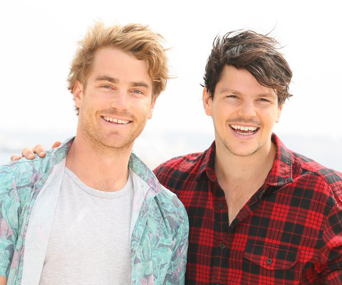**Hayden Quinn and Daniel Churchil** They may have appeared two seasons apart, but that didn't stop *MasterChef* hunks Hayden and Dan becoming firm friends and foodie colleagues. The laid-back lifeguard and former fitness coach had a love for food and surfing, so it's apt that they now present *Surfing The Menu*.