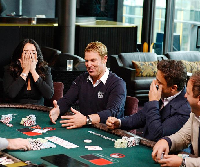 Shane is a regular poker player at the World Series.