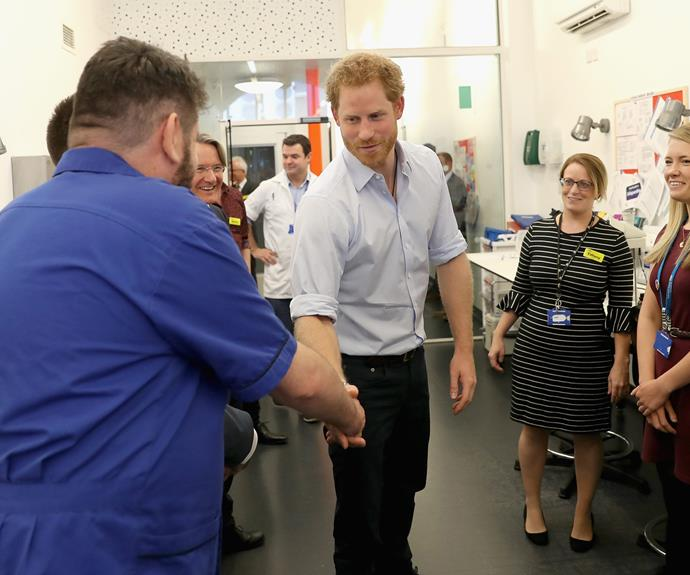 Harry met with the other technicians to praise them for their diagnostic work.