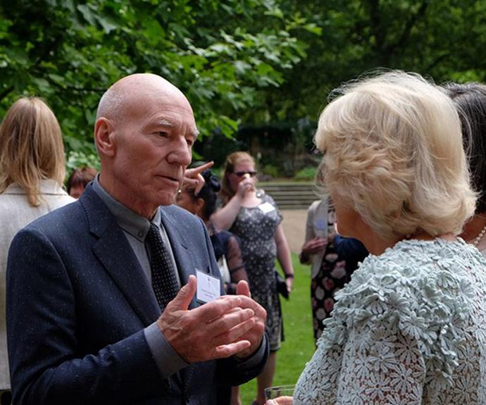 Patrick Stewart discusses the serious subject with Camilla.