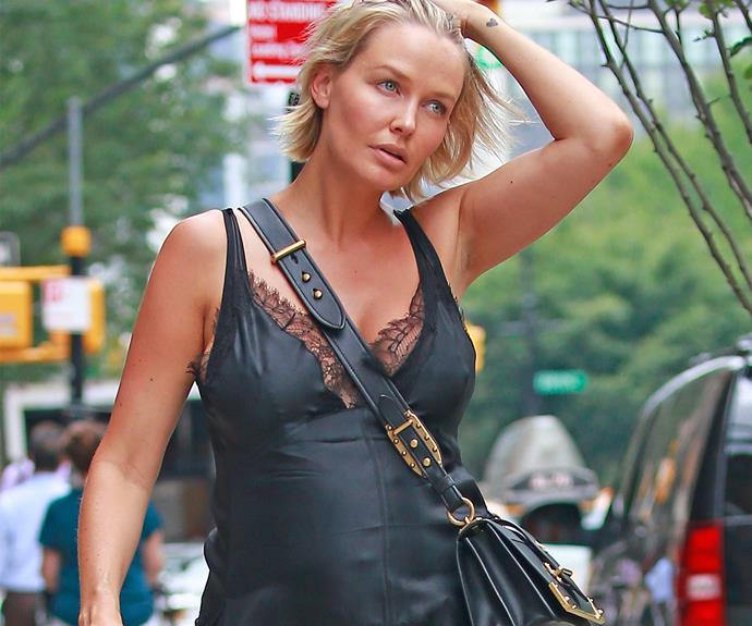 In July, the *Being Lara Bingle* beauty was all kinds of chic as she stepped out in New York with her gorgeous bump on fully display.