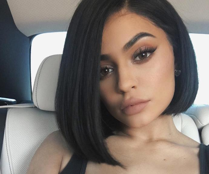 Kylie Jenner, 18, decided it was time for a change. The teen chopped off her brunette locks and is slaying a killer new Lob! **Check out the dramatic moment she cut her hair in the video in the next slide**