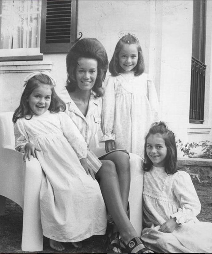 Lady Susan Renouf's daughter Ann shared this touching family snap via Instagram to honour her late mother.