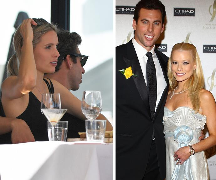 Grant's blonde friend bears a similar resemblance to his ex-wife, Candice Alley.